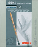 Bruynzeel Designbox - 12 Grafiet Potloden
