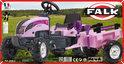 Falk Tractor Pink+Rac Set 2/5