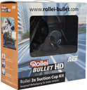 Rollei, 3x Suction Cup Kit for Bullet 3S / 4S / 5S Action Camera Accessoires (Black)