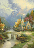 Kinkade Church In The Mountain