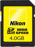 Nikon SD kaart 4 GB