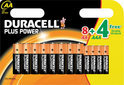 Duracell Batterijen Plus Power - 8xAA + 4xAAA Gratis