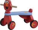 Houten 4 wieler Sesamstraat Elmo
