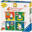 Ravensburger 4-in-1 Puzzel - Nijntje
