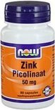 NOW Zink Picolinaat 50 mg - 60 Capsules  - Mineralen
