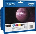 Brother LC-1220 - Inktcartridge / Zwart / Cyaan / Magenta / Geel