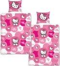Dekbedovertrek Hello Kitty circles - Roze - 140x200