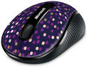 Microsoft Eggplant Dot Wireless Mobile Mouse 4000 Bluetrack - USB