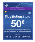 Sony PlayStation Network Voucher Card 50 Euro België - PS4 + PS3 + PS Vita + PSN