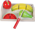 Houten Snijset Fruit incl. Dienblad