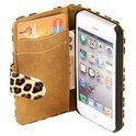 Movizy wallet case iPhone 5(S) 'Yellow Leopard'