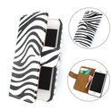TCC Luxe Hoesje iPhone 5(S) Book Case Flip Cover - Zebra Wit