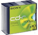 Sony CD-R 80min/700MB 48x 10 stuks in slimcase