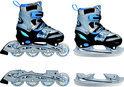 Inline Skates Combo Blauw - Maat 38-41