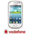 Vodafone Prepaidpakket: Samsung Galaxy Fame (S6810P) (wit) met 10 euro beltegoed