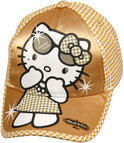 Sanrio Hello kitty cap gold 52/54