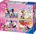 Ravensburger 4 in 1 Puzzel - Disney Minnie Mouse