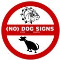 No dog signs + CD-ROM