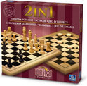 Houten 2 In 1 Spel Schaken/Damspel