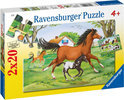Ravensburger 2 in 1 Puzzel - Wereld van de Paarden