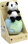 WWF Tyga & Pong Pong op globe met muziek - 17 cm - 6,5
