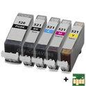 Canon CLI-521 / PGI-520 voordeelset 5 stuks met chip (compatible)