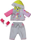 Baby Born Jogging Outfit - Grijs - Poppenkleding