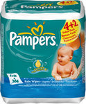 Pampers Baby fresh - Doekjes Navulpak 6x64st