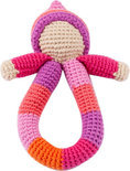 Pebble rammelaar - Pixie ring roze