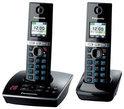 Panasonic KX-TG8062 - Duo DECT telefoon met antwoordapparaat - Zwart
