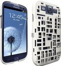 Freshfiber Hard Case met Kaarthouder Mondriaan voor Samsung i9300 Galaxy SIII Wit