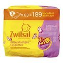 Zwitsal Billendoekjes Sensitive 3x63 St