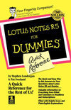 Lotus Notes R5 for Dummies Quick Reference