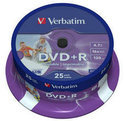 Verbatim 43539 DVD+R Wide Inkjet Printable ID Brand Schijven - 25 Stuks / Spindel