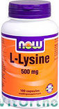Now L-Lysine 500 mg Capsules 100 st