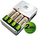 GP PowerBank M520 - Battery charger - AC / car - 2-5 hr - 4xAA/AAA - included batteries: 4 x AA NiMH 2700 mAh