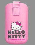 Hello kitty Iphone hoesje pu leder roze