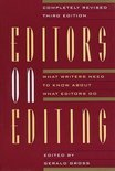 Editors on Editing