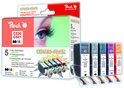 Peach C520 / C521 / PGI520 / CLI521 - Inktcartridge / Zwart / Cyaan / Magenta / Geel
