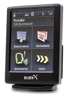 THB Bury Spraakgestuurde Bluetooth Handsfree Carkit met Touchscreen
