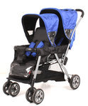 KEES - Tandem Cabrio Kinderwagen - Kobalt Zwart