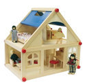 Poppenhuis Hout (13-delig)