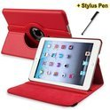 Ipad Mini / Mini 2 rood 360 draai case hoes map + stylus