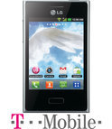 LG Optimus L3 - Zwart - T-Mobile prepaid telefoon