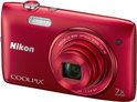 Nikon Coolpix S3500 - Rood