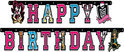 Monster High Letterguirlande - Happy Birthday