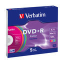 Verbatim Colours - 5 x DVD+R - 4.7 GB 16x
