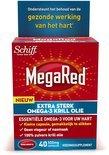 MegaRed 500mg Extra Sterk Omega-3 Krill Olie 40 stuks - Voedingssupplementen