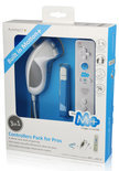 Playfect Remote Controller + Nunchuck Controller Wit Wii