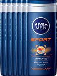 NIVEA MEN Sport - 250 ml - Douchegel - 6 st - Voordeelverpakking